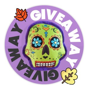 October Halloween Giveaway: Win a Sugar Skull Dog Toy!