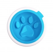 Kaleido Good Manners Anti Gulp Dog Bowl in Aqua by FelliPet!