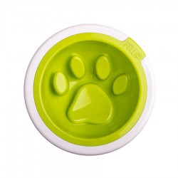 Kaleido Good Manners Anti Gulp Dog Bowl in Lime by FelliPet!
