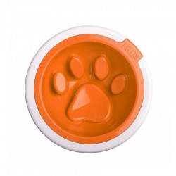 Kaleido Good Manners Anti Gulp Dog Bowl in Tangerine by FelliPet!