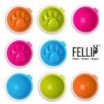Kaleido Good Manners Anti Gulp Dog Bowl in Fuchsia by FelliPet!