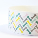 'I Love My Dog' Ceramic Designer Dog Bowl by Fringe Studio!