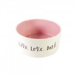 'Live. Love. Bark.' Ceramic Designer Dog Bowl by Rae Dunn by Magenta!