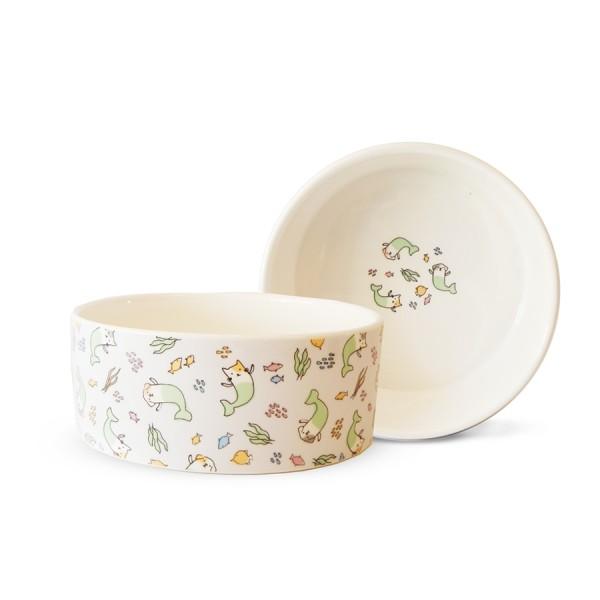 'Mer-Pets' Ceramic Designer Dog Bowl by Fringe Studio!
