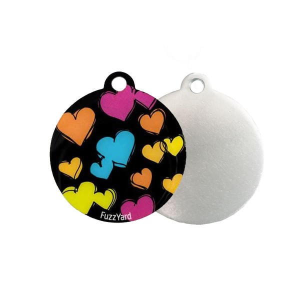Sketchy Hearts 'StreetStyle' ID Tag by FuzzYard