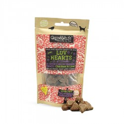Luv Hearts Chicken & Liver Dog Treats 75g by Green & Wilds