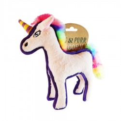 Rainbow Unicorn Dog Toy by The Happy Pet Company!