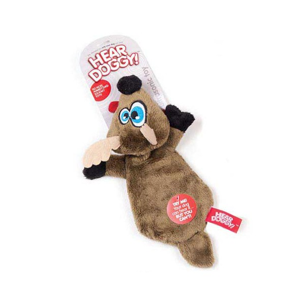 Reindeer Ultrasonic Squeaker Dog Toy with No Stuffing by Hear Doggy!