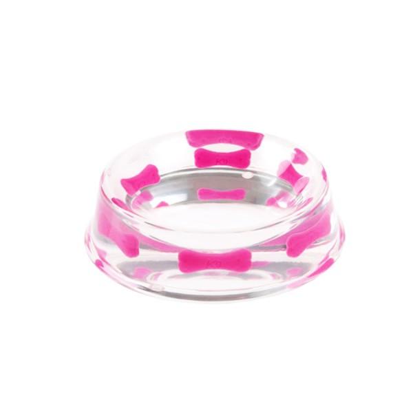 'Pink Bone' Heavy Resin Designer Dog Bowl by K9!