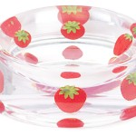 'Strawberry' Heavy Resin Designer Dog Bowl by K9!