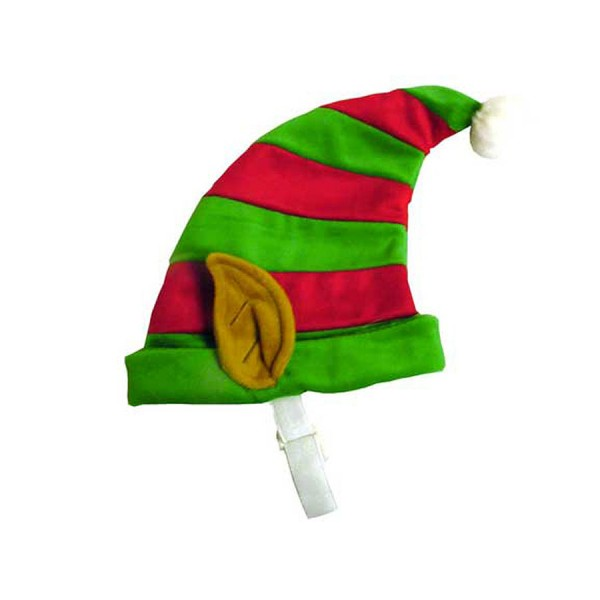 Festive Stripy Elf Hat with Ears for Dogs by Outward Hound/Kyjen!
