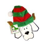 Festive Stripy Elf Hat with Ears for Dogs by Outward Hound/Kyjen!