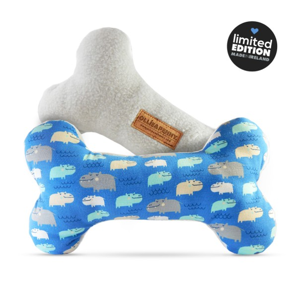 'Henry' Double-Squeak Fabric Bone by Ollie & Penny!