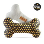 'Sanderson' Double-Squeak Fabric Bone by Ollie & Penny!