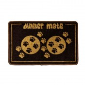 Dinner Mate Food Mat in Brown by Pet Rebellion!