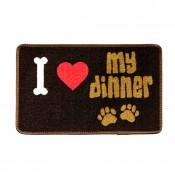Dinner Mate 'I Love My Dinner' Mat by Pet Rebellion!