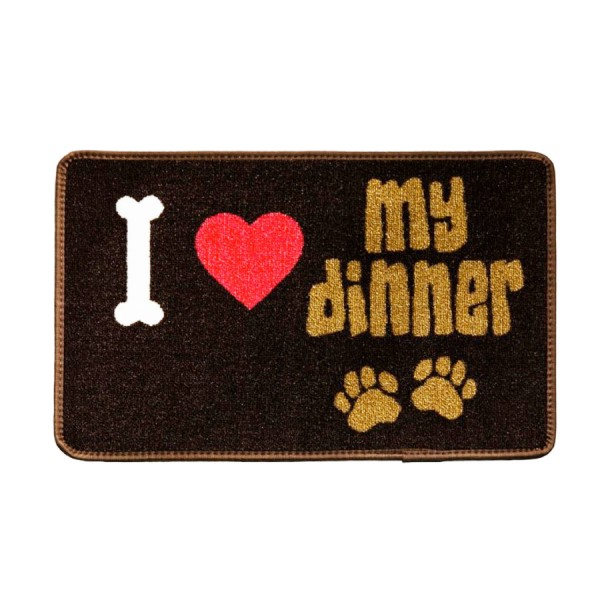 Dinner Mate 'I Love My Dinner' Mat by Pet Rebellion!