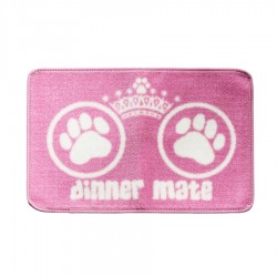 Dinner Mate Food Mat in Pink by Pet Rebellion!