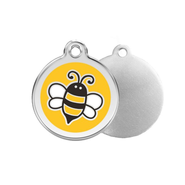 Bumble Bee ID Tag - Stainless Steel & Enamel by Red Dingo!