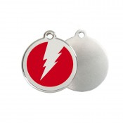 Bolt ID Tag - Stainless Steel & Enamel by Red Dingo