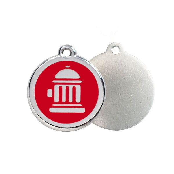 Fire Hydrant ID Tag - Stainless Steel & Enamel by Red Dingo