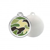 Camouflage ID Tag - Stainless Steel & Enamel by Red Dingo