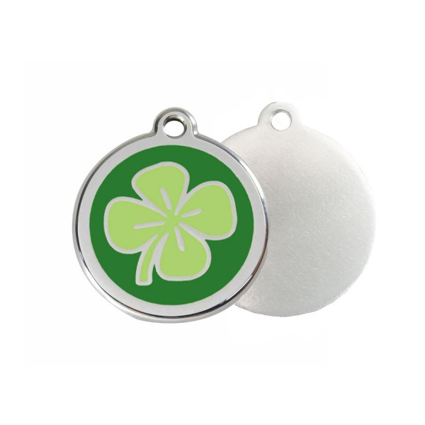 Clover ID Tag - Stainless Steel & Enamel by Red Dingo
