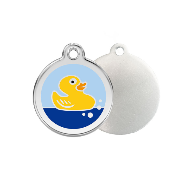 Duck ID Tag - Stainless Steel & Enamel by Red Dingo