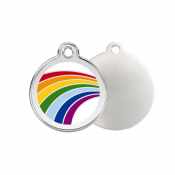 Rainbow ID Tag - Stainless Steel & Enamel by Red Dingo