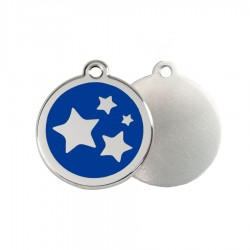 Stars ID Tag - Stainless Steel & Enamel by Red Dingo