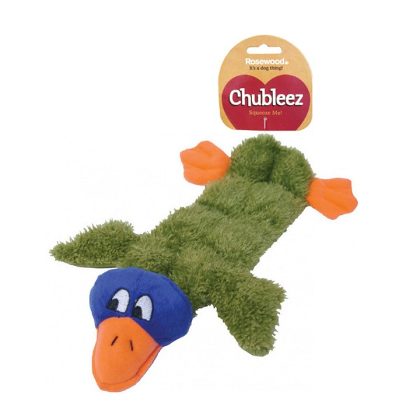 Mega Squeak Duck Chubleez Dog Toy by Rosewood Pet!
