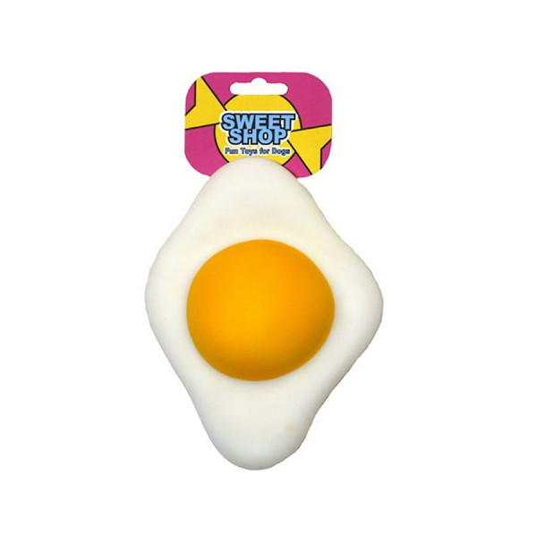 'Fried Egg' Sweetie Vinyl Dog Toy by Rosewood Pet!