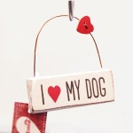 I 'Heart' My Dog Hanging Decoration by Sass & Belle