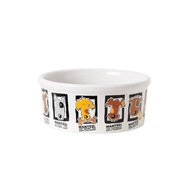 'Mug Shots' Ceramic Dog Bowl by Signature Housewares!