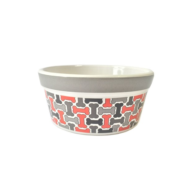 'Geometric Treats' Ceramic Dog Bowl by Signature Housewares!