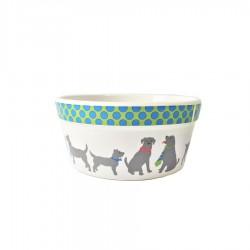 'Dapper Dogs' Ceramic Dog Bowl by Signature Housewares!