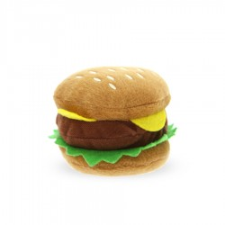 'Hamburger' Squeaky Plush Dog Toy by Urban Pup!