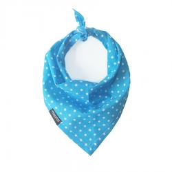 Blue Polka Dot Handmade Bandana by Wagytail!
