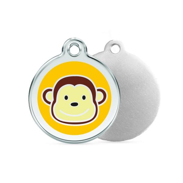 Monkey ID Tag - Stainless Steel & Enamel