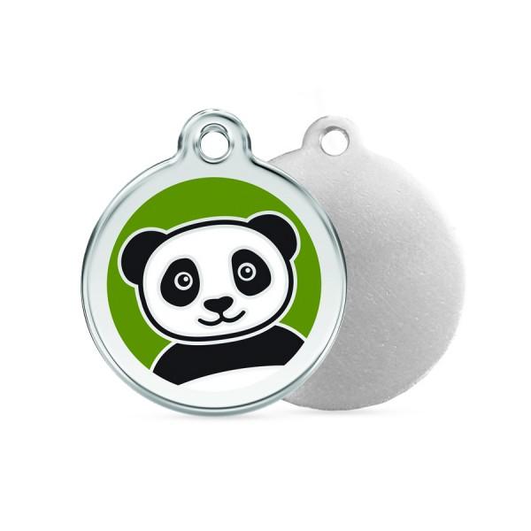 Panda ID Tag - Stainless Steel & Enamel