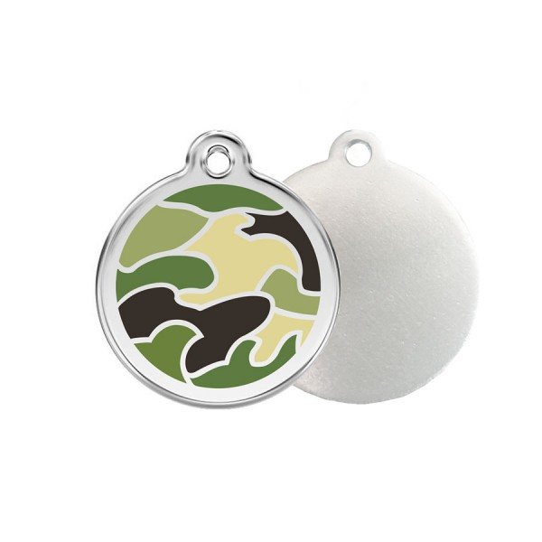 Camouflage ID Tag - Stainless Steel & Enamel