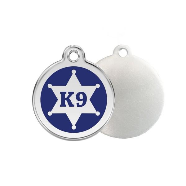 K9 Sheriff ID Tag - Stainless Steel & Enamel